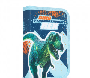 Penál 1 p. 2 chlopně, prázdný Premium Dinosaurus