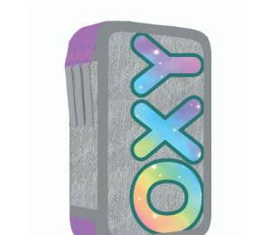 Penál 3 p. prázdný OXY Style Mini rainbow