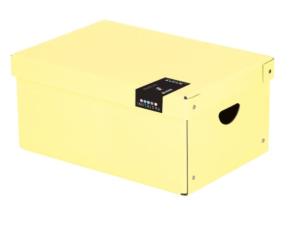 Krabice lamino velká PASTELINI žlutá