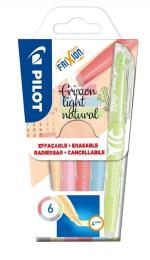 Zvýrazňovače Frixion Light natural colours -6 ks - 4139/S6