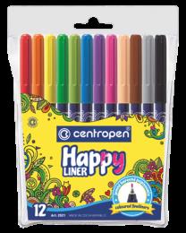 Liner Happy Centropen 2521 0,3mm - sada 12 barev