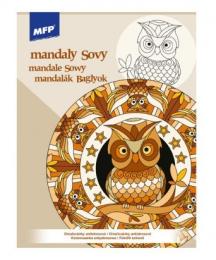 Antistresové omalovánky - Mandaly - Sovy - 5301071