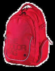 Studentský batoh ONE COLOUR červený