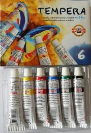 Temperové barvy Koh-i-noor 6 barev 16ml
