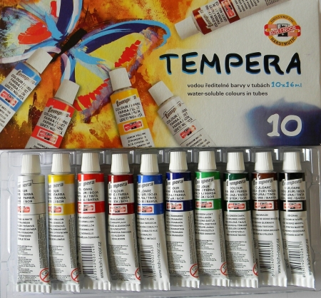 Temperové barvy Koh-i-noor 10 barev 16ml