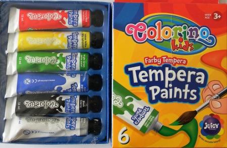 Temperové barvy COLORINO Kids 6 x 12ml