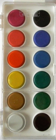 Vodové barvy Koh-i-noor 12 barev 22,5 mm