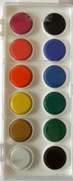 Vodové barvy Koh-i-noor 12 barev 30 mm