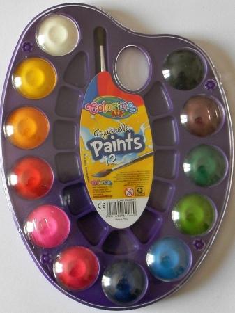 Vodové barvy COLORINO Kids 12 barev