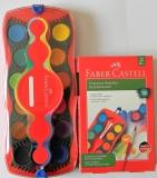 Vodové barvy FABER-CASTELL 12 barev, fotografie 1/1