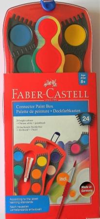 Vodové barvy FABER-CASTELL 24 barev