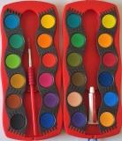 Vodové barvy FABER-CASTELL 24 barev, fotografie 1/1