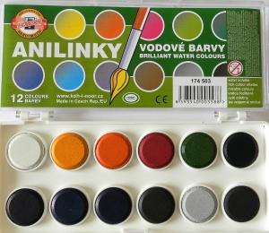 Anilinové barvy 12 barev