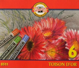 TOISON D´OR suché křídy 8511 Koh-i-noor 6 barev