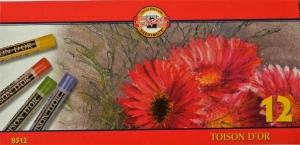 TOISON DˇOR suché křídy 8512 Koh-i-noor 12 barev