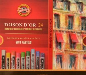 TOISON DˇOR suché křídy 8514 Koh-i-noor 24 barev