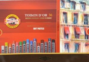 TOISON DˇOR suché křídy 8515 Koh-i-noor 36 barev