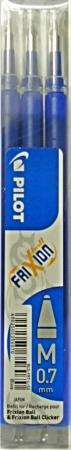 PILOT FRIXION gumovací náplně 0.7 (3ks v balení) modré
